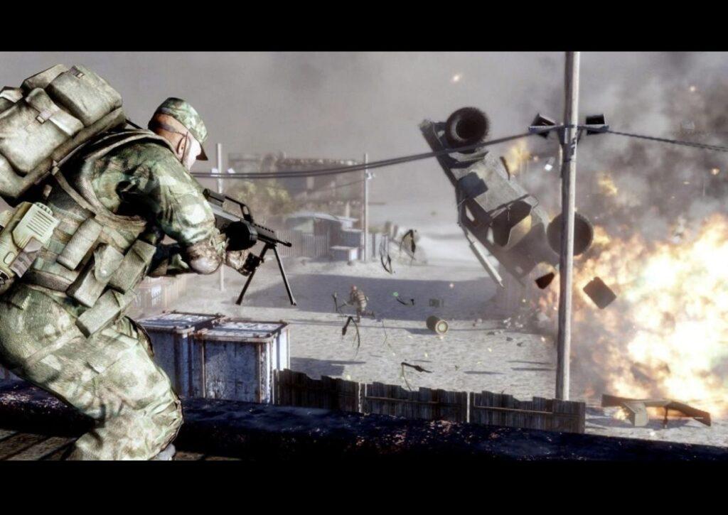 capa de jogo de tiro para pc fraco battlefield 2