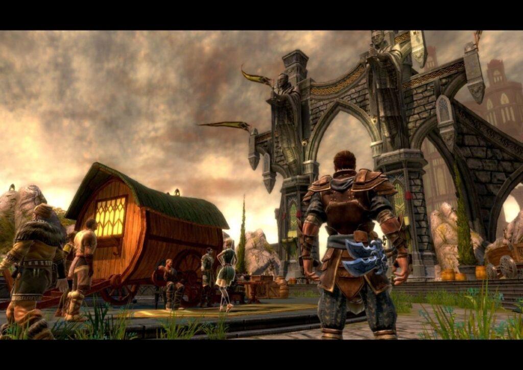 capa do jogo de RPG para pc fraco kingdoms of amalur