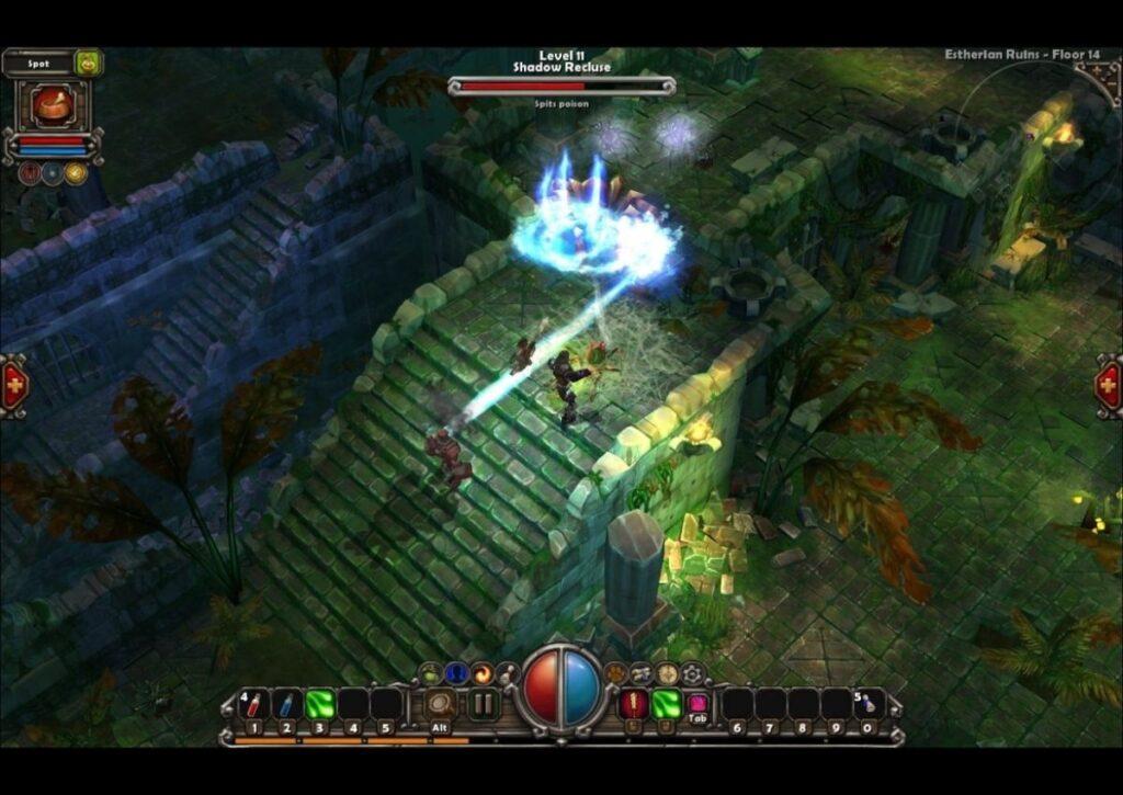 capa do jogo de RPG para pc fraco torchlight