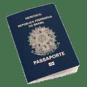 foto de passaporte brasileiro utilizado na obtenção do visto d7 portugal