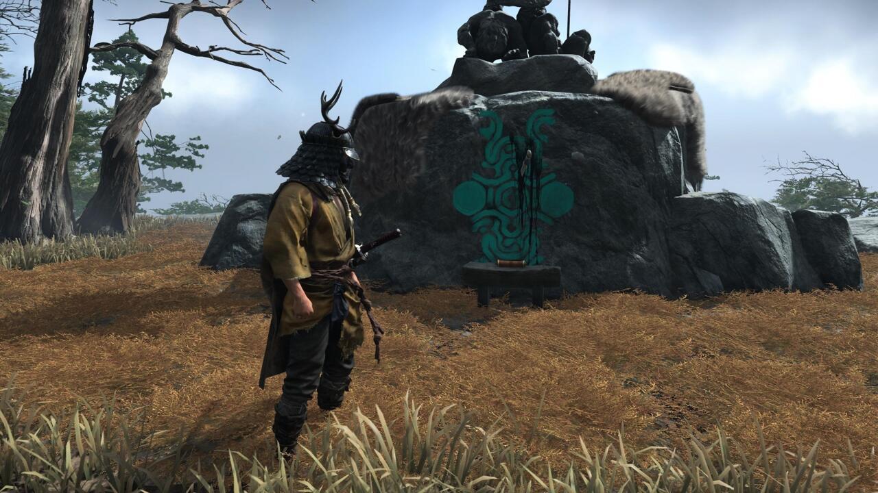 O santuário é marcado com o símbolo que você encontraria em um colosso, a espada protagonista que Wander usa para matá-los e a escuridão que sangra de suas feridas.