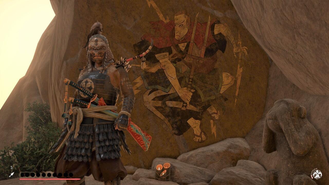 Vasculhe a montanha Saruiwa e você poderá encontrar este mural, uma homenagem ao Infame do Sucker Punch.