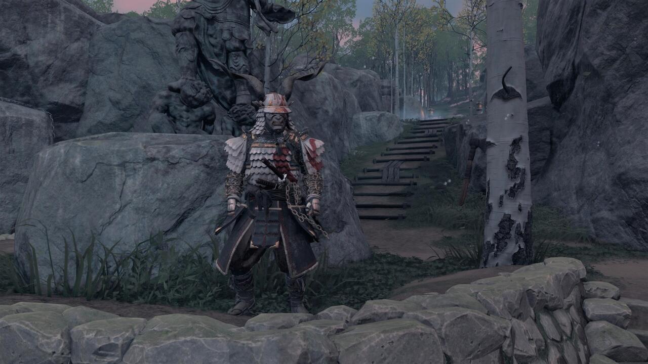 Você pode conseguir uma armadura de Kratos muito bonita se conseguir descobrir o enigma no Santuário de Ash na costa leste da Ilha Iki.