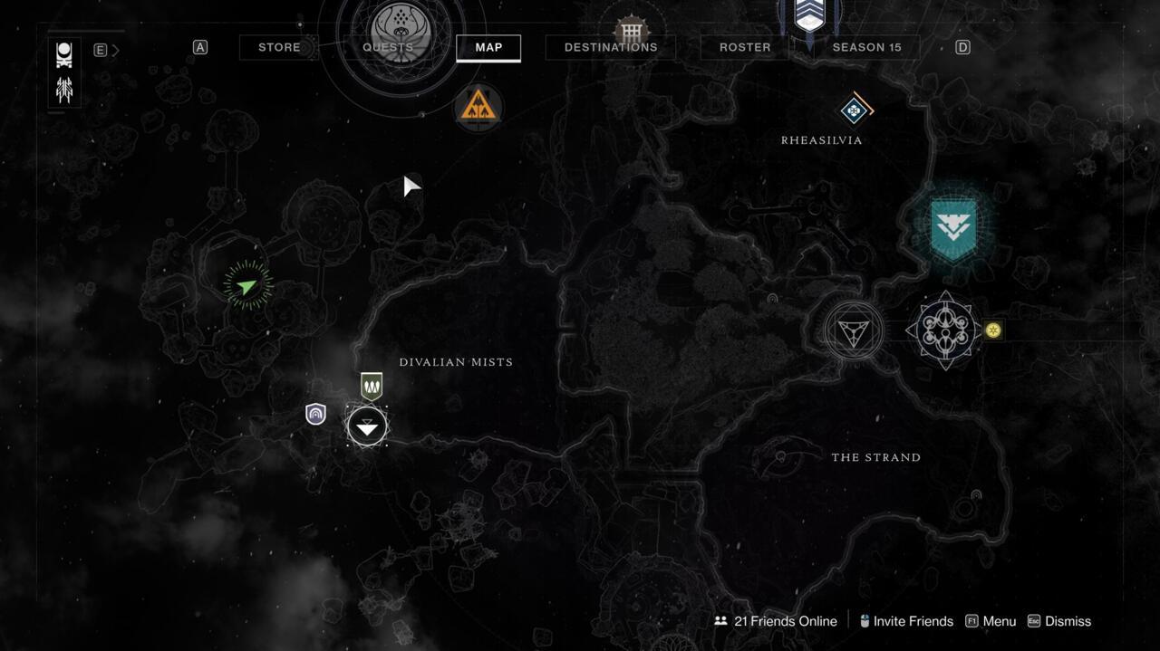 O Orrery é muito difícil de perder, e você encontrará o Atlas Skew no topo dele.