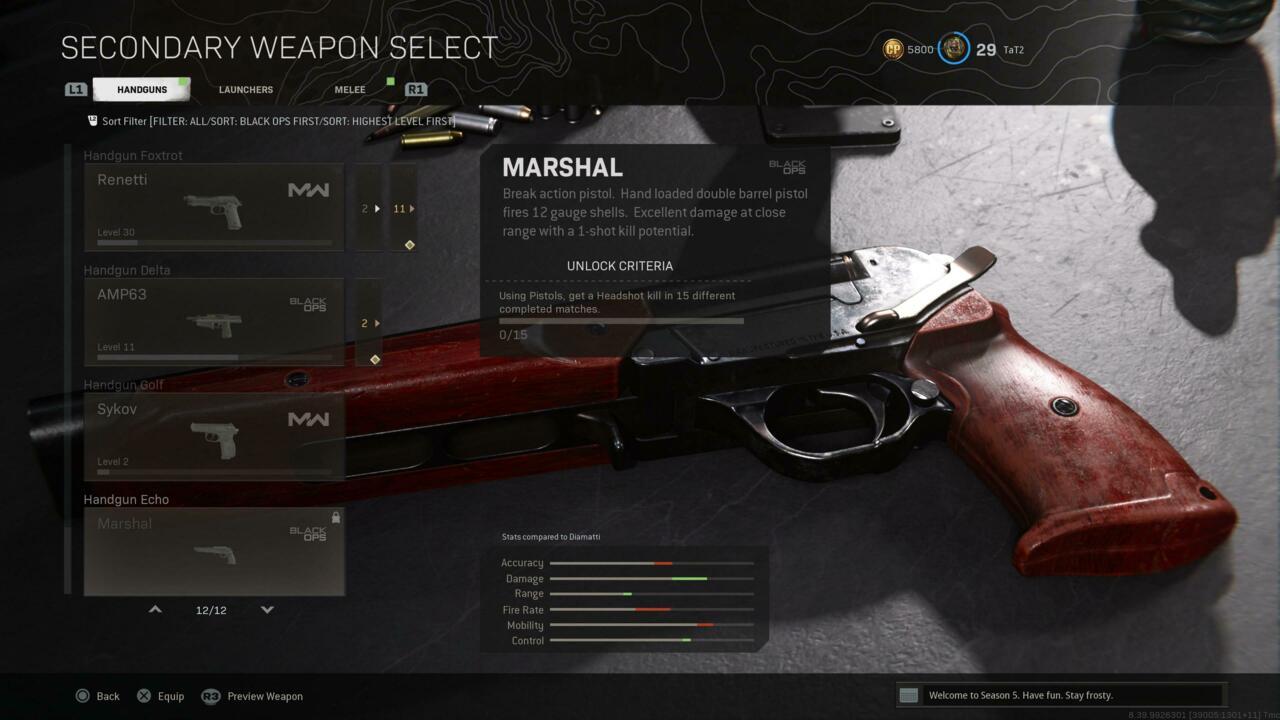 Desafio de desbloqueio do Marshal Warzone e Cold War Multiplayer