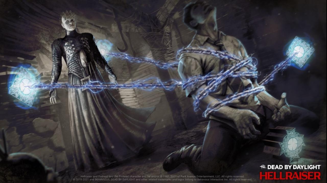 Pinhead, um personagem maligno que tem alfinetes na cabeça, chega ao Dead by Daylight em setembro