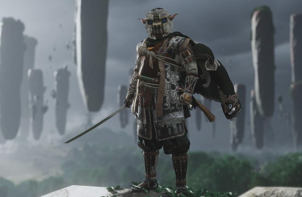 A Armadura do Colosso relembra o protagonista e os inimigos gigantescos de Shadow of the Colossus, encontrados no Santuário das Sombras no sul da Ilha Iki.