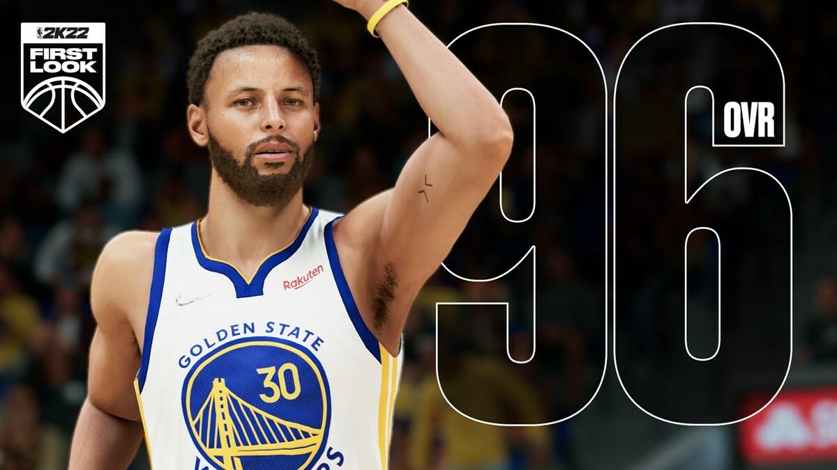Steph Curry tem uma classificação de 96 no NBA 2K22