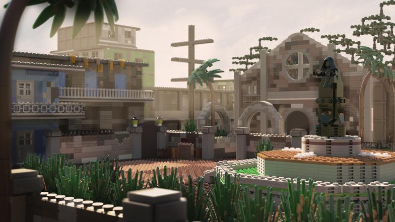 A favela é composta de 3.456 tijolos e custa $ 1.591 para construir.  Imagem: Diamond Lobby