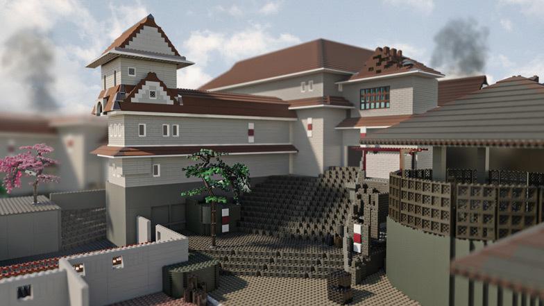 O castelo é feito de 12.873 tijolos e custa US $ 2.508 para ser construído.  Imagem: Diamond Lobby