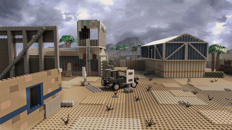 O campo de tiro é composto de 5.133 tijolos e custa US $ 1.988 para construir.  Imagem: Diamond Lobby
