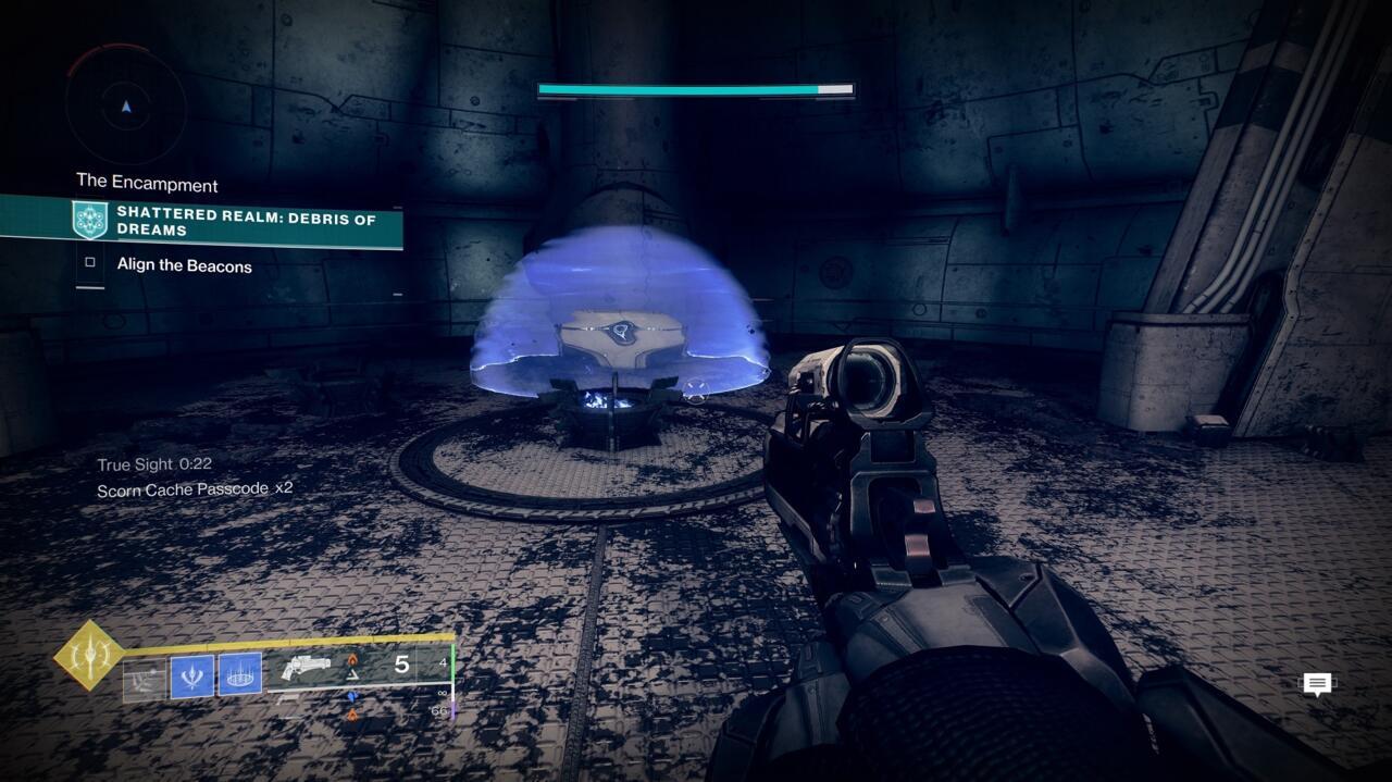 Você precisa matar os três Scorn Majors que estavam anteriormente nesta sala para abrir o baú Ascendant Mystery.