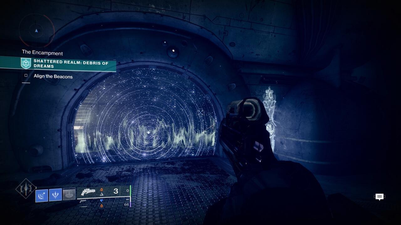 Siga o caminho através das barreiras, passando pelas minas de viagem, para chegar a Kaaskis do lado de fora.
