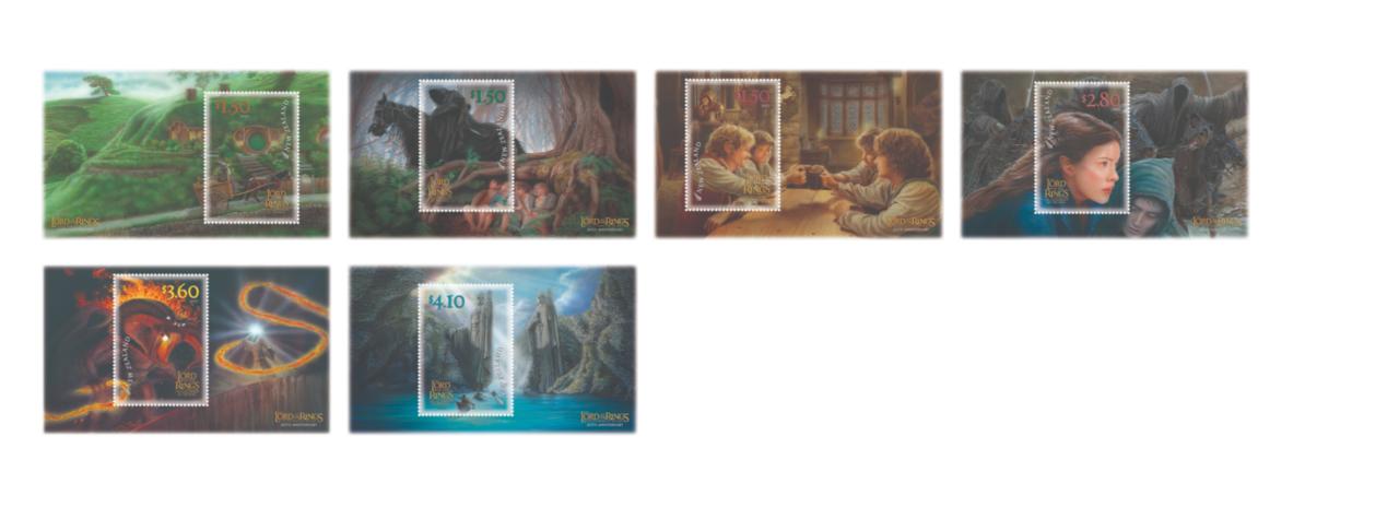 Selos do Senhor dos Anéis do 20º aniversário do NZ Post