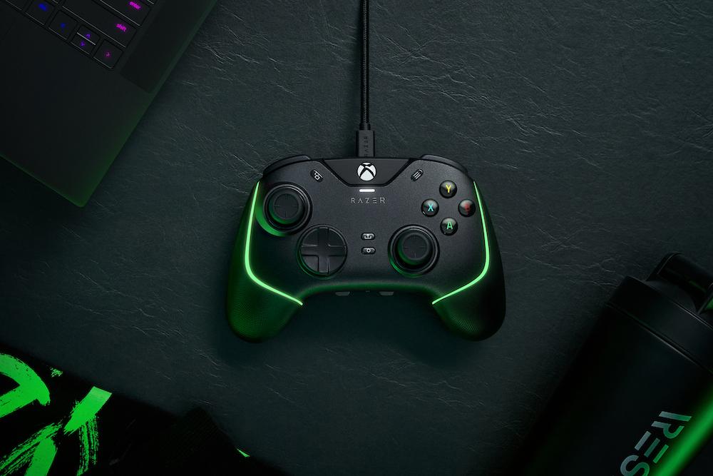 O Wolverine V2 Chroma é um controlador com fio para jogadores competitivos.