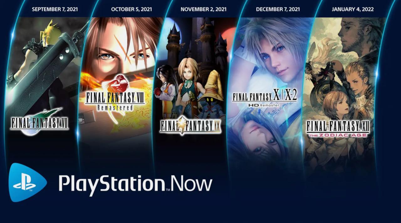 Cinco jogos Final Fantasy estão chegando ao Playstation agora