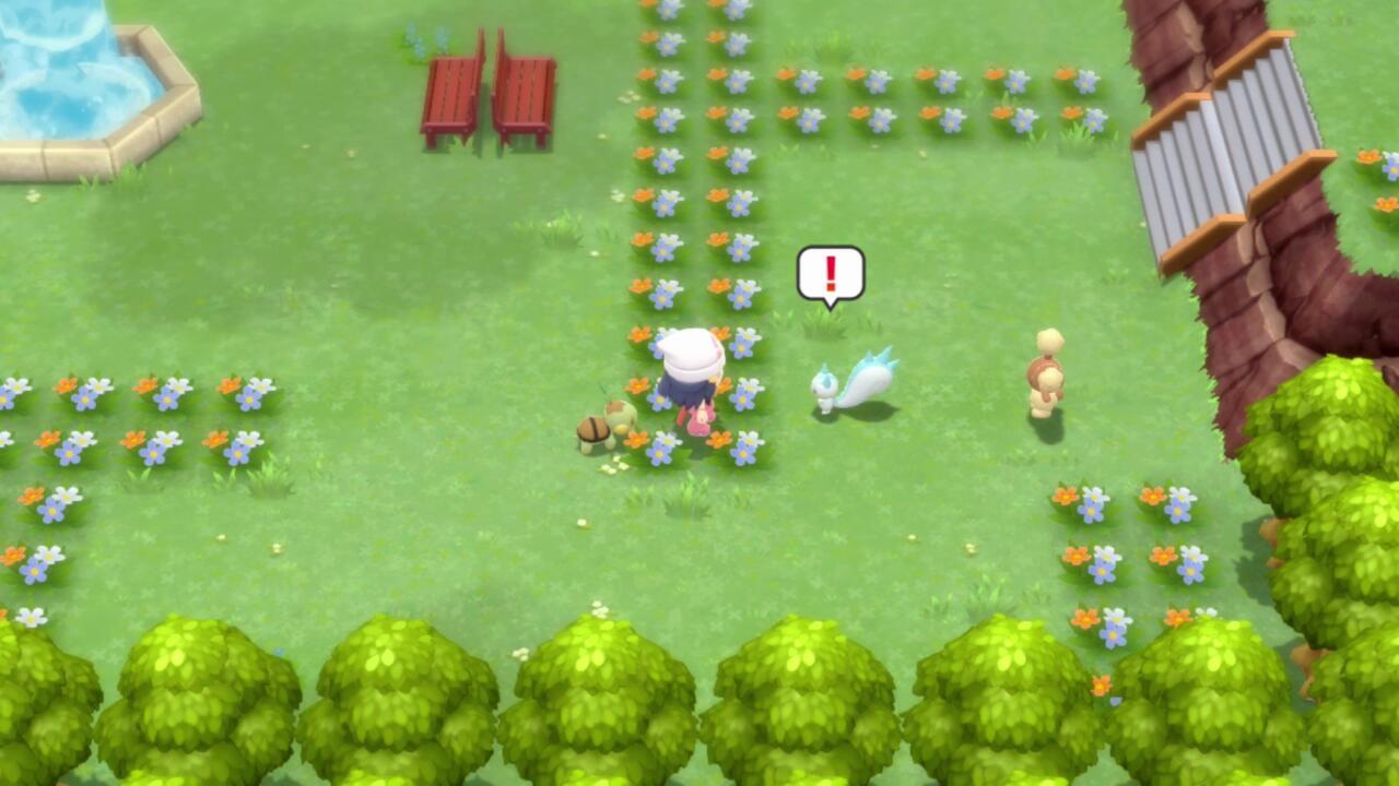 Você pode fazer pequenas caminhadas com seu Pokémon pelo Amity Park.