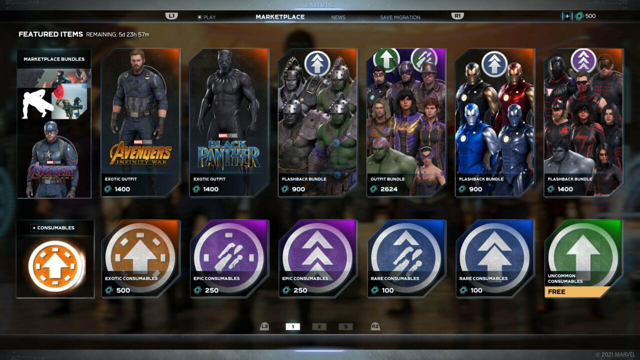 Consumíveis agora podem ser comprados em Vingadores da Marvel