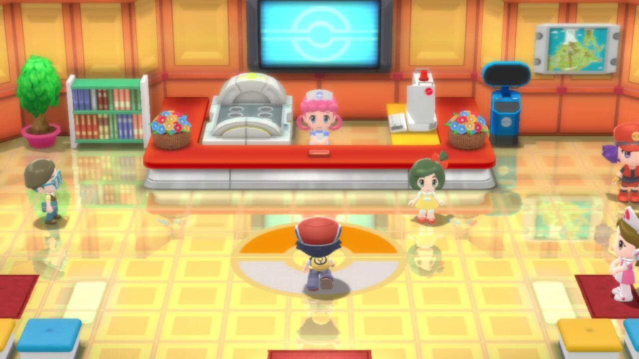 Como nos jogos antigos, Pokémon Centers e Poke Marts são dois edifícios separados.